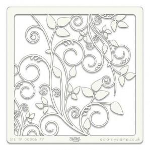 Clarity Art Stencil 7x7 Inch Leafy Swirl