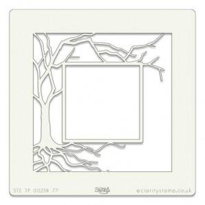 Clarity Art Stencil 7x7 Inch Tree Box