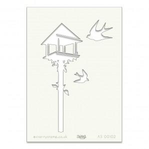 Clarity Art Stencil A5 Bird Table