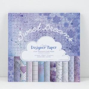 Claritystamp Design Paper Pack 8x8 Sweet Dreams