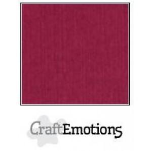 CraftEmotions linnenkarton 10 vel bordeaux LHC-25 A4 250gr