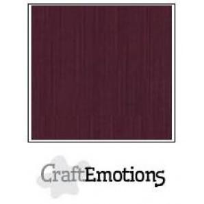 CraftEmotions linnenkarton 10 vel burgundy LHC-67 A4 250gr
