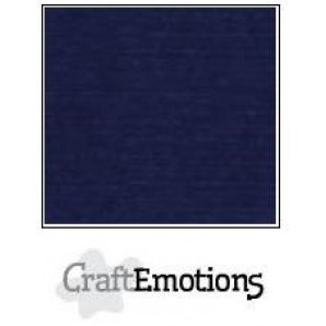 CraftEmotions linnenkarton 10 vel donkerblauw LHC-05 A4 250gr