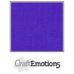 CraftEmotions linnenkarton 10 vel donkerpaars LHC-48 A4 250gr