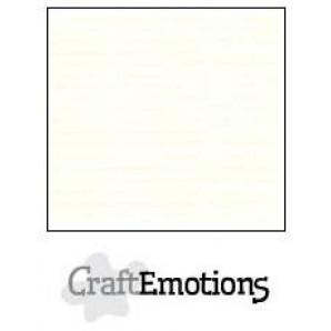CraftEmotions linnenkarton 10 vel gebroken wit 27x13,5 250 grams