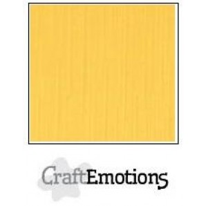 CraftEmotions linnenkarton 10 vel goudgeel LHC-22 A4 250gr
