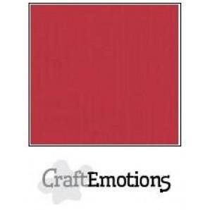 CraftEmotions linnenkarton 10 vel kersenrood LHC-30 A4 250gr
