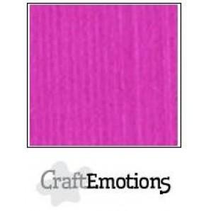 CraftEmotions linnenkarton 10 vel koraal magenta LHC-53 A4 250gr