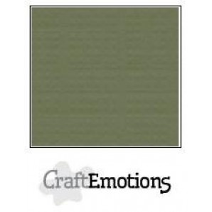 CraftEmotions linnenkarton 10 vel legergroen LHC-82 A4 250gr