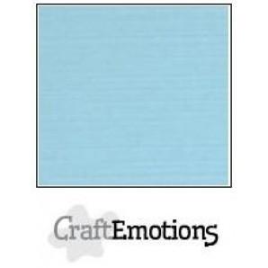 CraftEmotions linnenkarton 10 vel lichtblauw LHC-08 A4 250gr