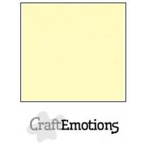 CraftEmotions linnenkarton 10 vel lichtgeel LHC-10 A4 250gr