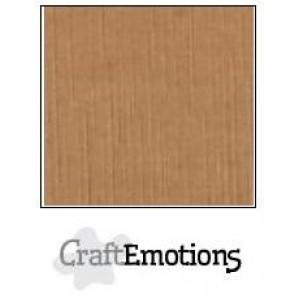 CraftEmotions linnenkarton 10 vel mokka LHC-28 A4 250gr
