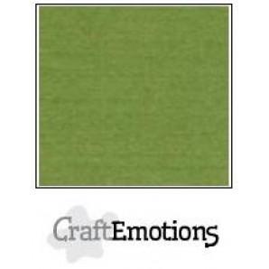 CraftEmotions linnenkarton 10 vel mosgroen LHC-45 A4 250gr