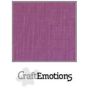 CraftEmotions linnenkarton 10 vel purper LHC-13 A4 250gr