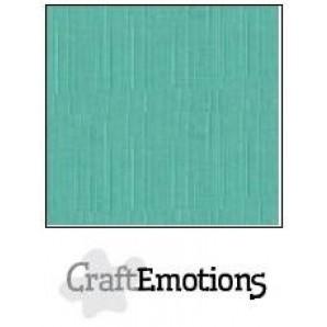 CraftEmotions linnenkarton 10 vel saliegroen pastel LHC-29 A4 250gr