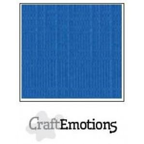 CraftEmotions linnenkarton 10 vel signaalblauw LHC-15 A4 250gr