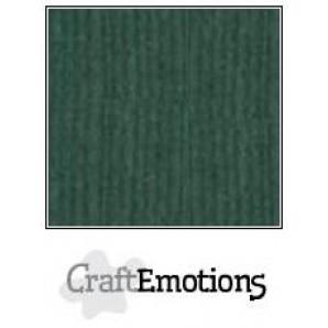 CraftEmotions linnenkarton 10 vel smaragdgroen LHC-62 A4 250gr