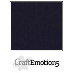 CraftEmotions linnenkarton 10 vel zwart LHC-58 A4 250gr