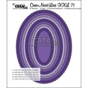 Crealies Crea-Nest-Lies XXL no 71 Ovals with open scallop