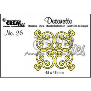 Crealies Decorette no. 26 tegel A CLDR26 / 45x45mm