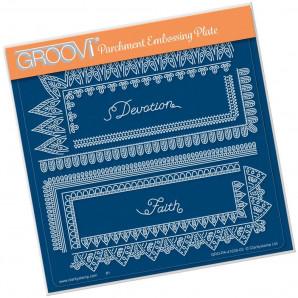 Groovi Plate A5 TINA'S SPIRITUAL DEVOTION BORDER 41630