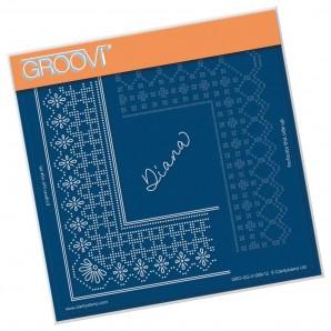 Groovi Grid Piercing Plate A5 PRINCESS DIANA GRID DUET