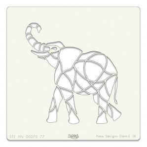 Clarity Art Stencil 7x7  ELEPHANT STENCIL