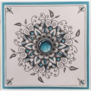 Gerti Hofman Design, Turquoise Gem Stones in Zentangle ENGLISH