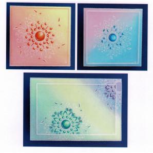 Gerti Hofman Design, 3 kaarten Zentangle Stamp