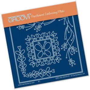 Groovi Plate A6 TINA'S BUTTERFLY CORNERS PETITE