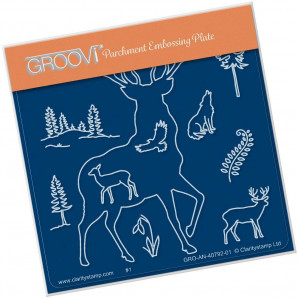 Groovi Plate A6 SMALL STAG OUTLINE GRO-AN-40792-01