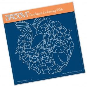 Groovi Plate Leafy Birds A5