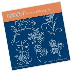 Groovi Plate A6 TINA'S FLOWER FUN
