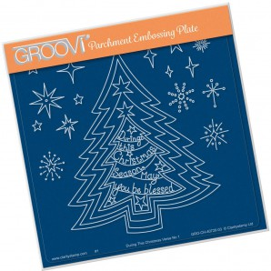 Groovi Plate During this Christmas Verse No. 1 - Tree
