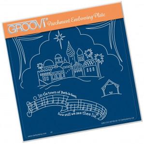 Groovi Plate A5 O LITTLE TOWN OF BETHLEHEM GRO-CH-40738-03