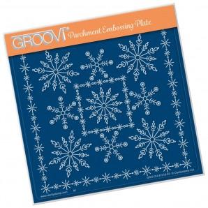 Groovi Plate TINA'S SNOWFLAKE FRAME  A5