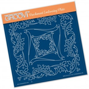 Groovi Plate TINA'S HOLLY FRAME A5