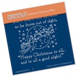 Groovi Plate A6 TWAS THE NIGHT GOOD NIGHT (15) GRO-CH-41041-01