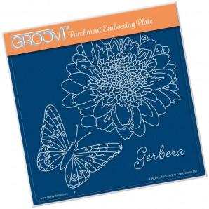 Groovi Plate Gerbera & Butterfly