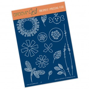 Groovi Plate Tina's Doodle Flowers 1