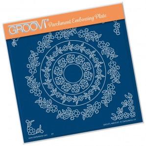 Groovi Plate TINA'S FLORAL DOODLE WREATH