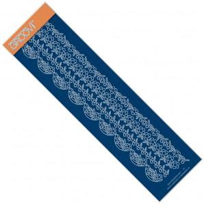 Groovi Plate  Border TINA'S FLORAL DOODLE