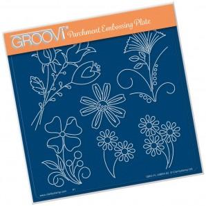 Groovi Plate TINA'S FLOWER FUN      A5
