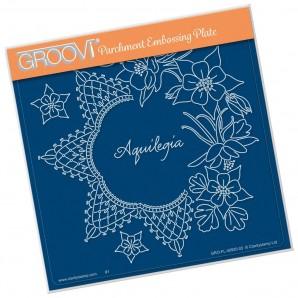 Groovi Plate LINDA'S AQUILEGIA    A5
