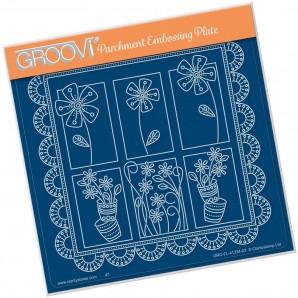 Groovi Plate A5 TINA'S FLORAL DELIGHT - DAISY GRO-FL-41334-03