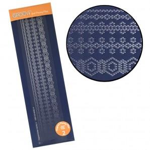 Groovi Plate Diagonal Border Pattern Piercing Grid 2