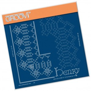 Groovi Grid Piercing Plate A5 HENRY LACE FRAME CORNER DUET