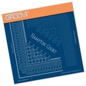 Groovi Grid Piercing Plate A5 HAMPTON COURT LACE GRID DUET