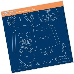 Groovi Plate PAPA OWL A4 Square