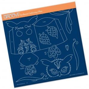 Groovi Plate MAMA OWL A4 Square